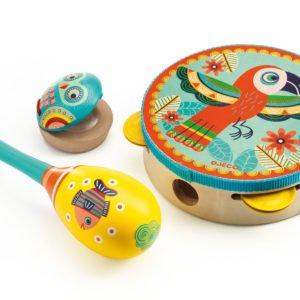 Coffret d'instruments de musique