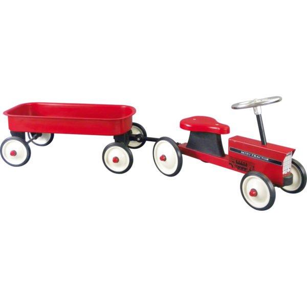 Tracteur et remorque metal