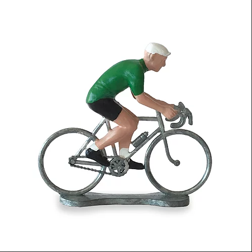 cycliste vert