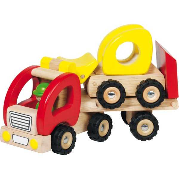 engin de chantier camion plateau